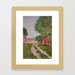 The Lonely Barn Framed Art Print