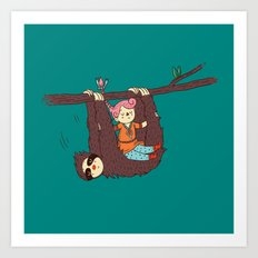 Sloth Swing Art Print