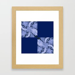 Season of the Square - Sapphire Check Framed Art Print