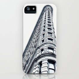 Flatiron Building - 175th Street, NY, NY black and white Photographic Print iPhone Case