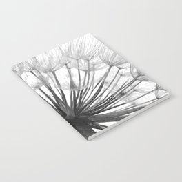 Black and White Dandelion Notebook
