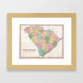Vintage Map of South Carolina (1827) Framed Art Print