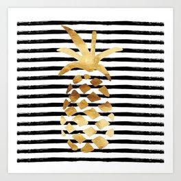 Pineapple & Stripes Art Print