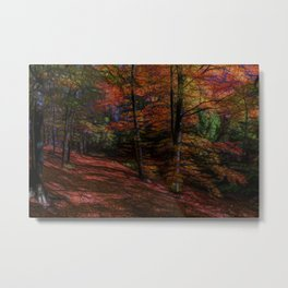trail in the autumn forest - digital artwork Metal Print