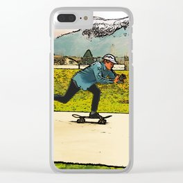 Movie Moves - Skateboarder Clear iPhone Case
