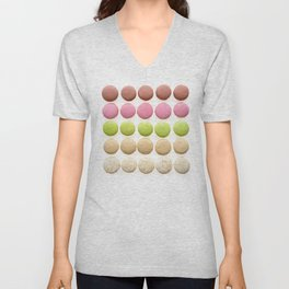Multicolored macarons Unisex V-Neck