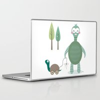 tortoise Laptop & iPad Skins featuring Tortoise by Esther Ilustra
