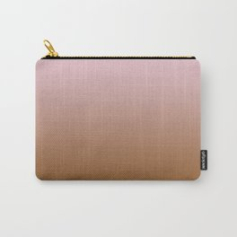 Pink Lace to Chocolate Brown Linear Gradient Carry-All Pouch