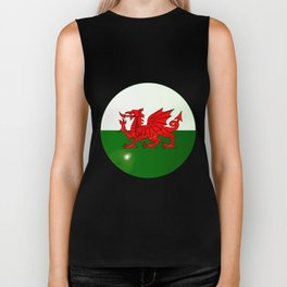 National Flag of Wales Button Biker Tank