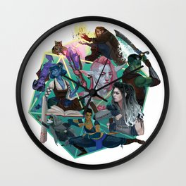 The Mighty Nein Wall Clock