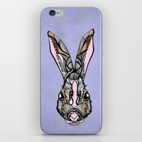 rabbit iPhone & iPod Skins featuring Rabbit by SilviaGancheva