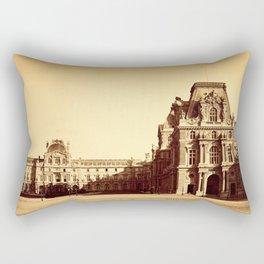 Paris. Palais du Louvre, Pavillon Mollien 1859 Rectangular Pillow