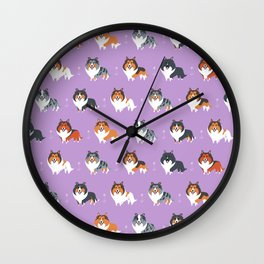 Shelties Wall Clock