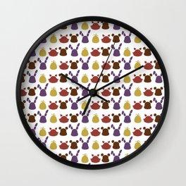 Bear, bunny, chick and a fox patten Wall Clock