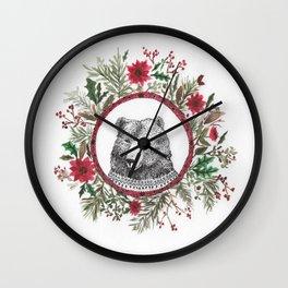oso navidad Wall Clock