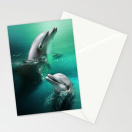 Dancing Dolphins Stationery Cards