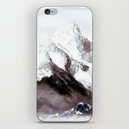 Panoramic View Of Everest Mountain Painting iPhone Skin
