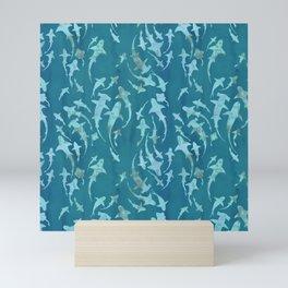Sharky Aqua Mini Art Print