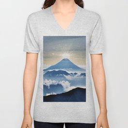 Mt. Fuji Sunrise Unisex V-Neck