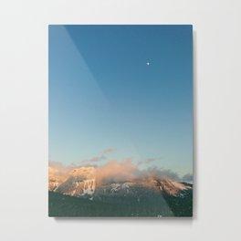 Hills of White Metal Print