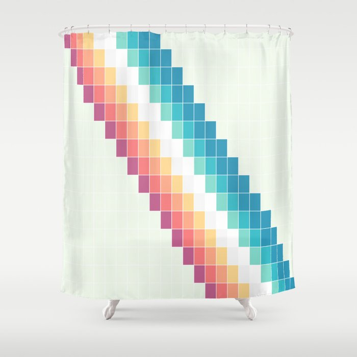Retro Rainbow Shower Curtain by bitart | Society6
