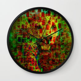 """"""" The leopard does not move without its spots. """" Wall Clock"""