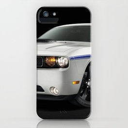 MOPAR Challenger in white with only 1 of 100 made iPhone Case