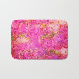 Pink and Red Vintages Roses So Shabby Chic Bath Mat