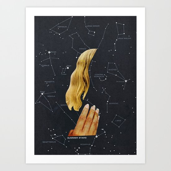 SUMMER STARS Art Print