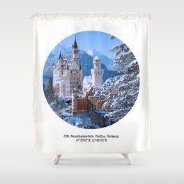 008: Neuschwanstein Castle Shower Curtain