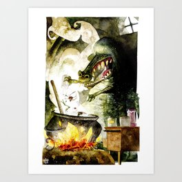Alligator witch Art Print