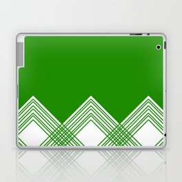 Abstract geometric pattern - green and white. Laptop & iPad Skin