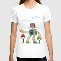 woody T-shirts featuring Woody Mecha by Teodoru Badiu