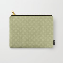Mustard color monochrome pattern of hearts . Carry-All Pouch