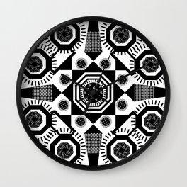 Black and White Mandala Wall Clock