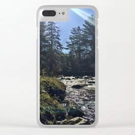 Spring on the Carrabassett River (1) Clear iPhone Case