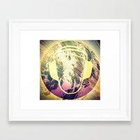 dj Framed Art Prints featuring DJ by Sara LG