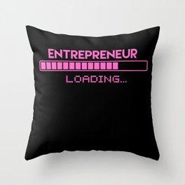 Entrepreneur Loading Throw Pillow