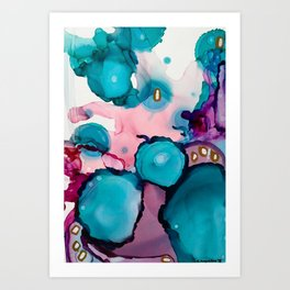 Tide Pool - Abstract Ink Art Print