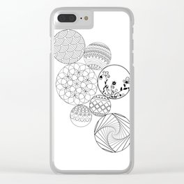 Mandalas, circles and flowers Clear iPhone Case