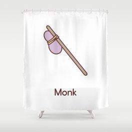 Cue Dungeons and Dragons Monk class Shower Curtain