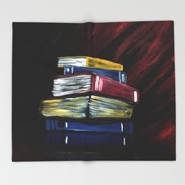 Books Of Knowledge Throw Blanket