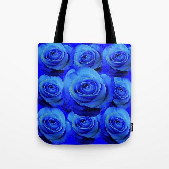 AWESOME BLUE ROSE GARDEN  PATTERN ART DESIGN by sharlesart