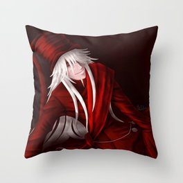 Undertaker in Red Throw Pillow