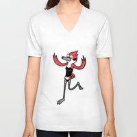 regular show V-neck T-shirts featuring Regular Show Margaret  by Elegant As Phoque