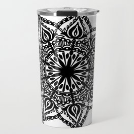 Indie Mandala: hand-drawn Travel Mug