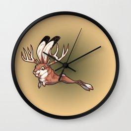 Jackalope and Thunderbird Wall Clock