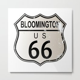 Bloomington Route 66 Metal Print