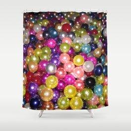 Rainbow beads Shower Curtain