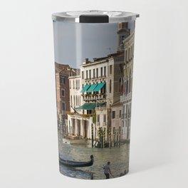 Gondolas And Palaces Of Venice Grand Canal Travel Mug